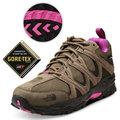 【美國 The North Face】女新款 TETSU GTX Gore-Tex 低筒登山健行鞋.多功能越野跑鞋.慢跑鞋/A2Y1 棕褐/亮桃粉 DV