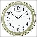【滾石鐘錶】SEIKO精工 塑膠外殼 淺綠色系外框 時尚掛鐘(原廠公司貨)型號:QXA576M
