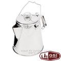 【美國 GSI】Glacier Stainless 8 Cup PERC 輕量18/8(304)食品級頂級不鏽鋼燒水壺 咖啡壺.茶壺/安全堅固.輕便易攜 非snow peak 65008