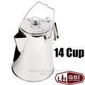 【美國 GSI】Glacier Stainless 14 Cup PERC 輕量18/8(304)食品級頂級不鏽鋼燒水壺 咖啡壺.茶壺/安全堅固.輕便易攜 非snow peak 65014