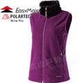 EasyMain 衣力美 女 防風保暖透氣背心 Wind Pro 90%防風/Polartec防潑水馬甲輕暖夾克/爬山健行保暖外套 V1480-69深紫色