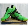 新莊新太陽 MIZUNO 美津濃 WAVE TWISTER 4 V1GA157009 基本型體 排球鞋 螢光綠 特1400