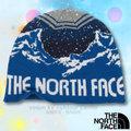 【美國 The North Face】新款經典 夜光材質兒童彈性針織保暖帽(可雙面載)非羊毛帽.舒適柔軟 A6X3 怪獸藍/宇宙藍