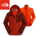 【The North Face】TNF 男 HV HS 兩件式外套 保暖外套/防風防水大衣/機能外套CUL8-CKR杉木紅/磚瓦3P03/亞洲版型