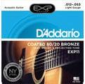 『立恩樂器』免運優惠 Daddario EXP 11 (12-53) 民謠吉他弦 黃銅包覆弦 木吉他弦