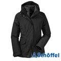 【贈雙人保暖毛毯】德國 SCHOFFEL 女 Gore-Tex 防風防水外套 黑 2011193 保暖外套