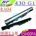 HP電池- RA04, 430 G1電池,430 G0,430電池, 430 G2, RA04, E5H00PA,HSTNN-IB4L H6L28AA,HSTNN-W01C,707618-121,惠普..
