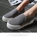 【ALicE】(預購) Y862-7 下架-磨砂草編造型鬆緊休閒鞋-灰