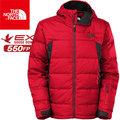 【The North Face】TNF 男 550fill 羽絨外套 鵝絨外套/羽絨外套/羽絨服/羽絨大衣CNW7-65J紅/瀝灰 3516/亞洲版型