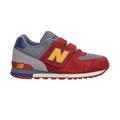 New Balance 紐巴倫 574系列 魔鬼氈 復古鞋 童鞋 - 紅X灰X橘黃 103KV574K3Y