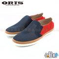 【哈鞋網】ORIS 男款 時尚風格 麂皮+網布雙材質設計 室外休閒鞋 SA1520604 藍色