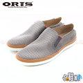 【哈鞋網】ORIS 男款 時尚風格 麂皮+網布雙材質設計 室外休閒鞋 SA1520610 灰色