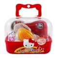 【卡漫屋】 Hello Kitty 化妝箱 玩具組 7件 ㊣版 扮家家酒 小 模型 日版 美妝箱 收納 手提盒 珠寶盒