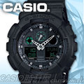 CASIO 時計屋 卡西歐手錶 G-SHOCK GA-100MB-1A 黑 美國街頭風 雙顯男錶 全新 保固一年 開發票