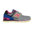 New Balance 紐巴倫 574系列 魔鬼氈 復古鞋 童鞋 - 灰X粉X藍 103KV57406Y