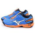 MIZUNO 男款 WAVE TWISTER 4 排球運動鞋V1GA157001-藍