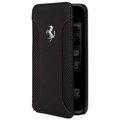 【鼎立資訊】法拉利 iPhone 6 / 6plus / i6s 6plus F12 真皮側開式皮套(黑)