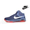 NIKE AIR VISI PRO VI 749167-402 男性籃球鞋 訓練鞋 氣墊 灰藍/橘紅 ☆男☆免運費☆