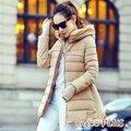 【CHACO CHACO】韓系 美式簡約風尚併接手套羽絨棉修身中長款外套(2色)
