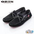 【哈鞋網】 ORIS 男款 紳士風格 經典百搭素面 麂皮材質 休閒鞋 SB15947B01 黑色