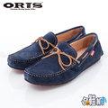 【哈鞋網】 ORIS 男款 紳士風格 經典百搭素面 麂皮材質 休閒鞋 SB15947B04 藍色