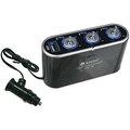 【電子超商】KINYO車用三孔三切+USB輸出孔擴充點煙器(CRU-18)