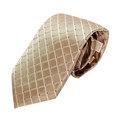 MICHAEL KORS黃白格紋男士專屬品味時尚領帶