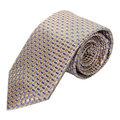 MICHAEL KORS 黃藍細格紋男士專屬品味時尚領帶