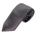 MICHAEL KORS 黑白黃格紋男士專屬品味時尚領帶