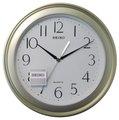 SEIKO CLOCK 日本精工清新銀綠色塑膠外框精緻簡約掛鐘 型號:QXA576M【神梭鐘錶】