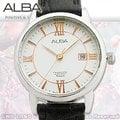 CASIO 手錶 專賣店 國隆 ALBA 雅柏 精工 AH7D07X1 女錶 石英錶 皮革錶帶 白色錶盤