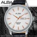 CASIO手錶 專賣店 國隆 ALBA 雅柏 精工 AV3299X1男錶 石英錶 皮革錶帶 白色錶盤