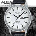 CASIO手錶 專賣店 國隆 ALBA 雅柏 精工 AV3301X1男錶 石英錶 黑色皮錶帶 銀色錶盤