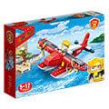 【BanBao邦寶積木楚崴】新消防系列 7109消防水陸飛機(與樂高Lego相容)