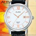 CASIO 時計屋 ALBA 亞柏手錶 AH7D07X1 女錶 石英錶 皮革錶帶 白色錶盤 全新 保固 開發票