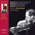 C912151 貝多芬,布拉姆斯&德布西:小提琴奏鳴曲 (葛羅米歐,小提琴/海杜,鋼琴) Beethoven, Brahms, Debussy, Arthur Grumiaux (Orfeo)
