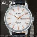 ALBA 雅柏 手錶 專賣店 AV3299X1 男錶 石英錶 皮革錶帶 白色錶盤 全新品 保固一年 開發票