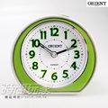 ORIENT 東方錶 連續秒針 簡約雙色 電子音 數字鬧鈴 鬧鐘 貪睡AQ-346綠
