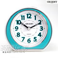 ORIENT 東方錶 連續秒針 簡約雙色 電子音 數字鬧鈴 鬧鐘 貪睡AQ-346藍