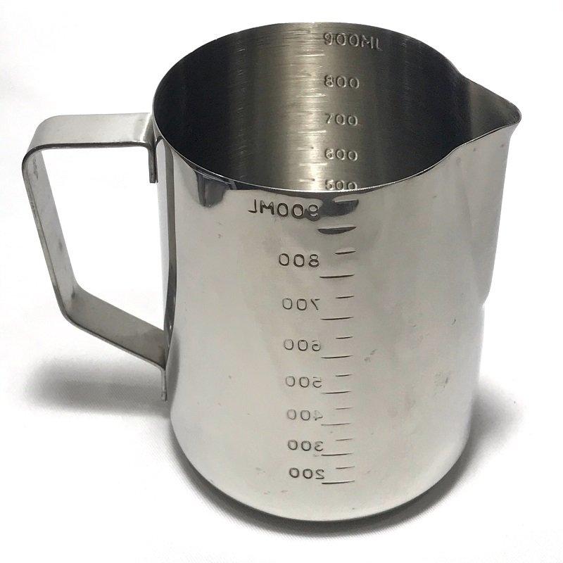 《3557》Pearl Horse寶馬牌二合一刻度拉花杯+刻度測量杯1000ml 18-8不銹鋼杯 烘焙 手工皂