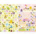 春天粉嫩款❤《Parklon》韓國帕龍雙面PVC地墊-歡樂假期+粉紅校車
