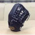 「野球魂」--「ZETT」高級金標牛皮棒球壘球手套(外野手,BPGT-127,黑色)