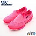 【哈鞋網】美國SKECHERS 襪鞋面結構 舒柔觸感材質 彈力瑜珈鞋墊 獨特超曲折大底 輕量舒適慢跑鞋 SK14010HPK 粉色