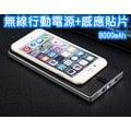 Qi 碳纖格陵紋無線行動電源 8000mAh + 無線感應貼片 輕薄商務行充 蘋果/三星/HTC/華碩/小米 各式手機通用 M-45+B-01