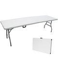 【免工具】深76x寬240x高74/公分(8尺寬度)4.5公分厚度-大型對疊折疊桌/書桌/電腦桌/餐桌/工作桌/野餐桌/拜拜桌/洽談桌-BSL-Z240-1