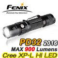 【詮國】Fenix 赤火 PD32 2106 高性能口袋小直手電筒 / 最高900流明 - PD32-2016