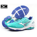 【MIZUNO 美津濃】女 慢跑鞋 WAVE RIDER 19 /綠白 M-607 J1GD160304