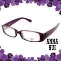 ANNA SUI 安娜蘇 低調立體雕花流行光學框(紫) AS509751