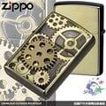 【詮國】Zippo 日系經典打火機 - 齒輪 (金銅色限量版) / 雙電鍍蝕刻金屬貼飾 / BSB / ZP492