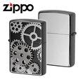 【詮國】Zippo 日系經典打火機 - 齒輪 (古銀色限量版) / 雙電鍍蝕刻金屬貼飾 / BIB / ZP493